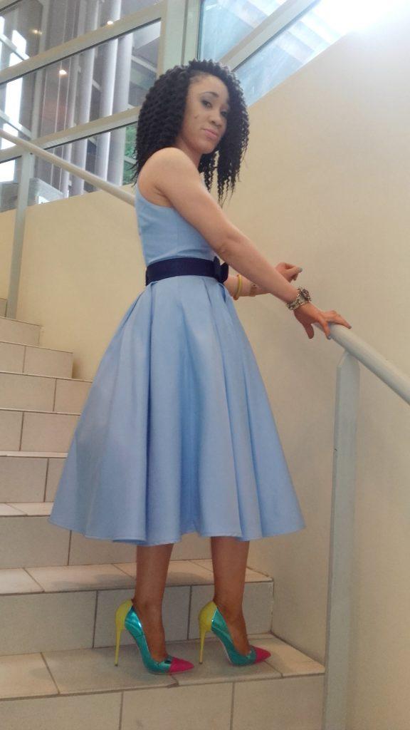look invité mariage robe mi-longue