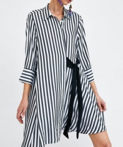 Robe chemise a noeud