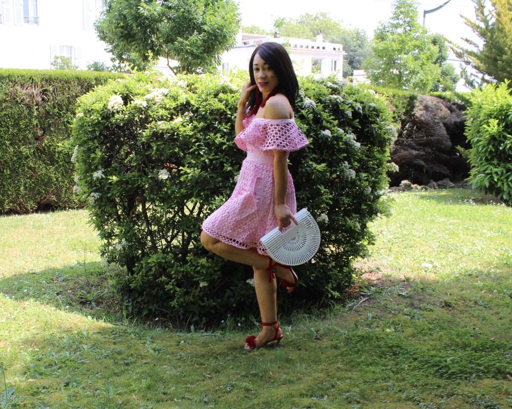 look été robe guipure rose