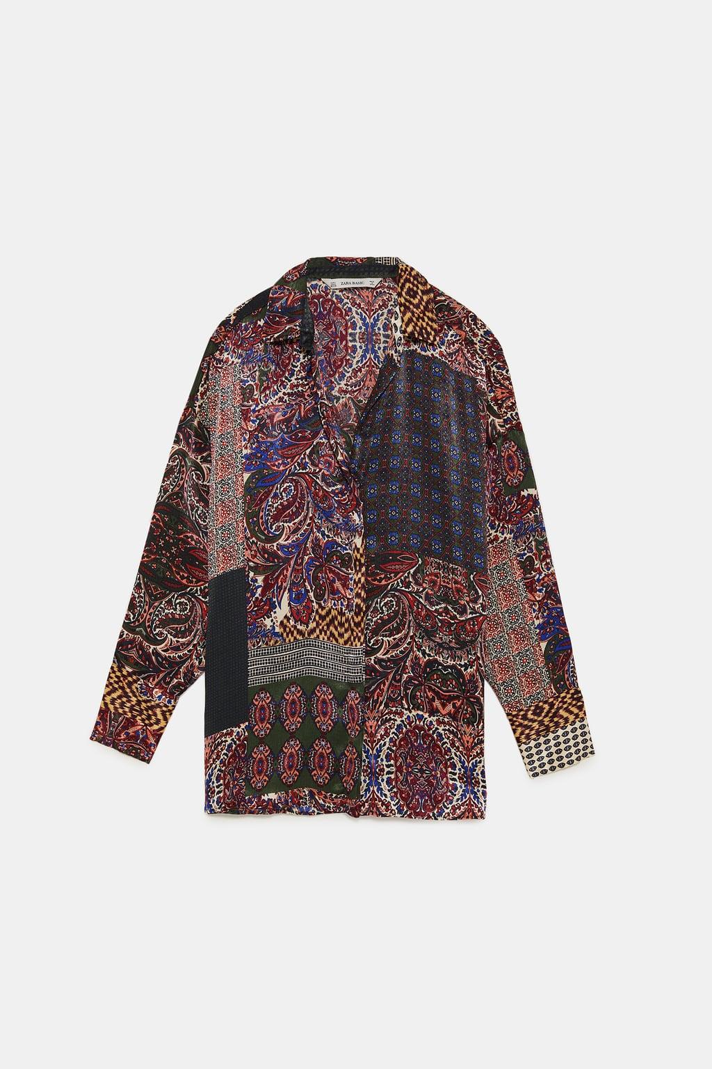 chemise patchwork zara