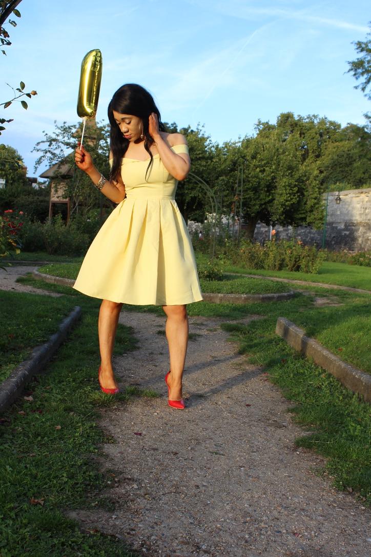fashioninspo yellow dress