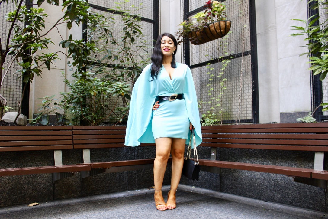 idée look robe turquoise