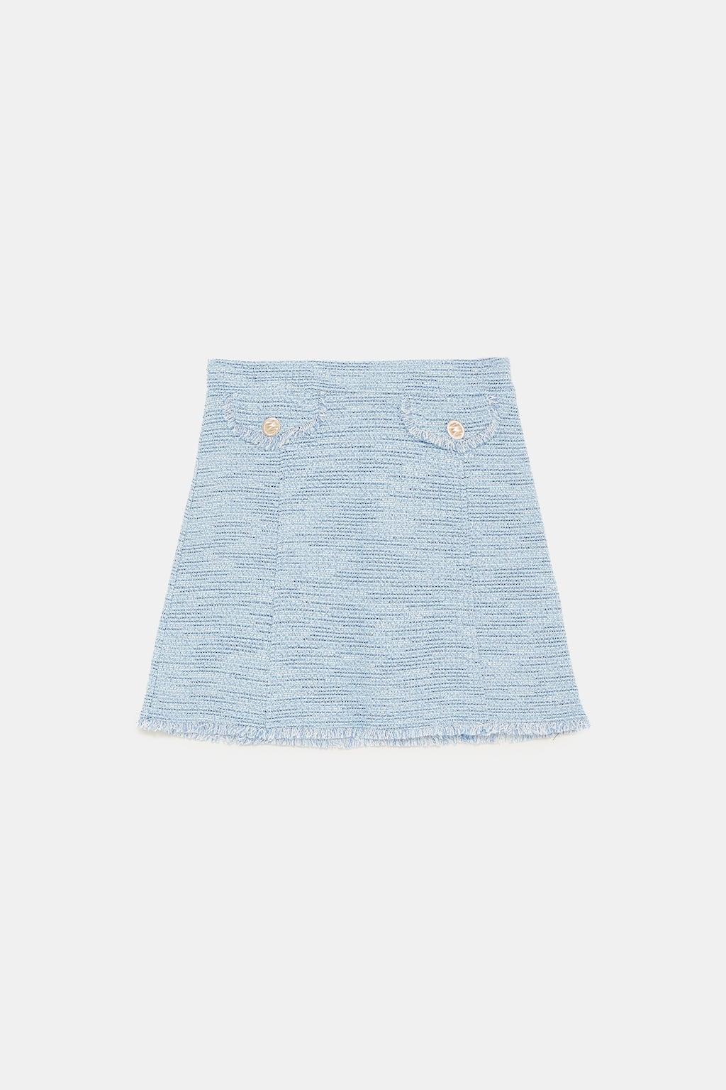 jupe tweed Zara