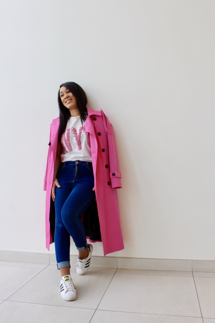 look printemps trench oversize