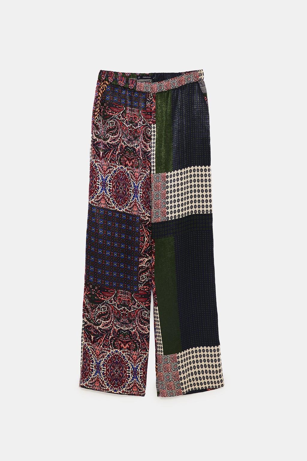 pantalon patchwork zara