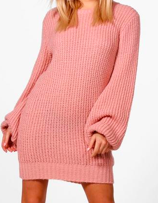 robe pull maille boohoo