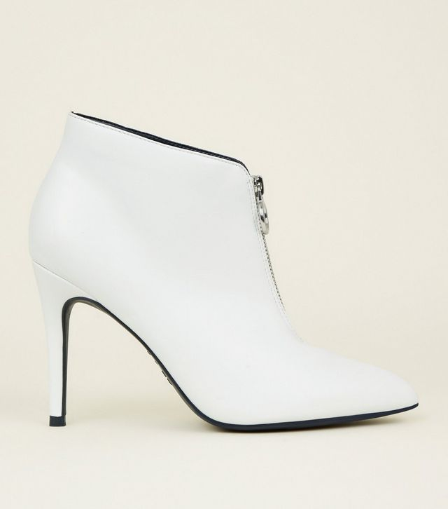 bottines blanches new look