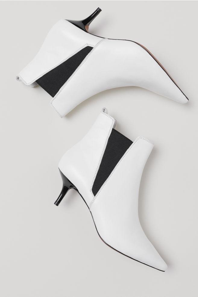 bottines blanches h et m