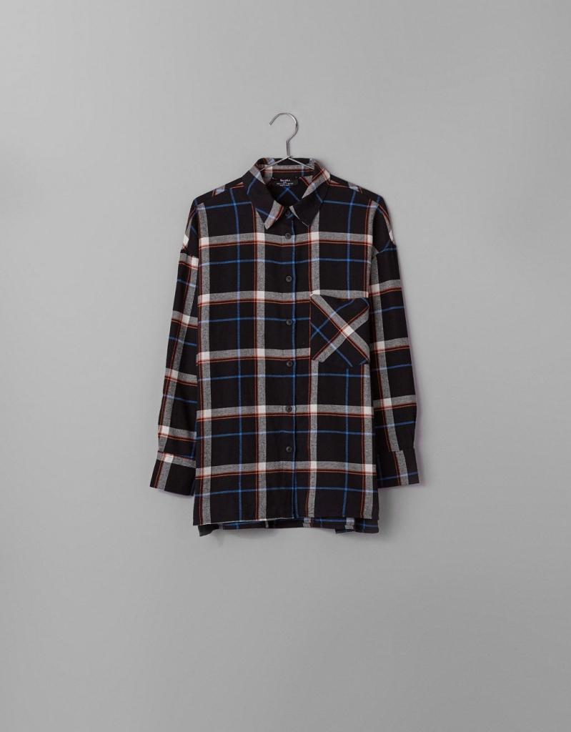 Chemise à carreaux Bershka