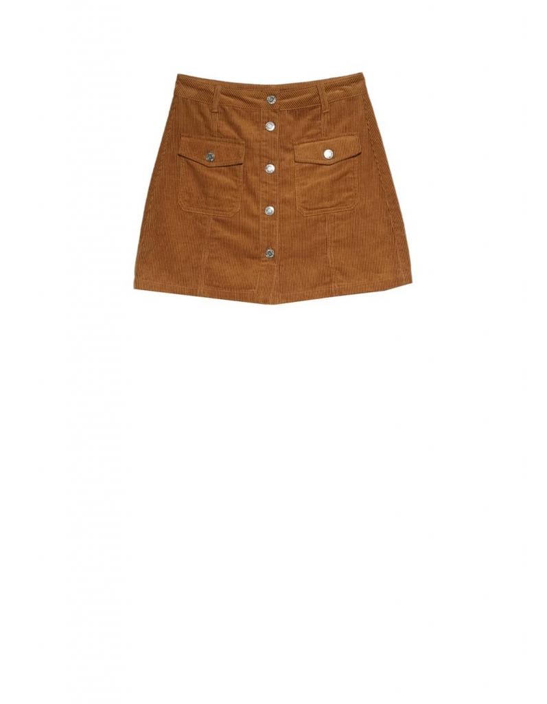 jupe velours côtelé stradivarius