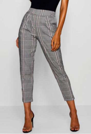 pantalon à carreaux Boohoo