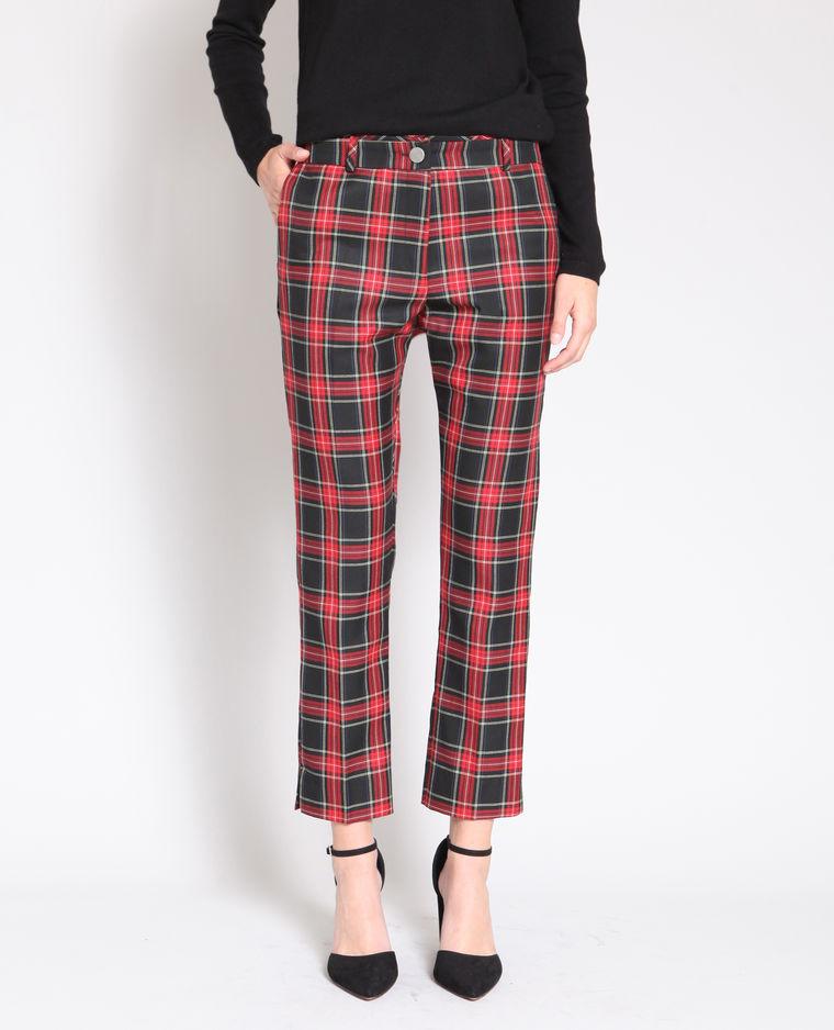 pantalon imprimé écossais Pimkie
