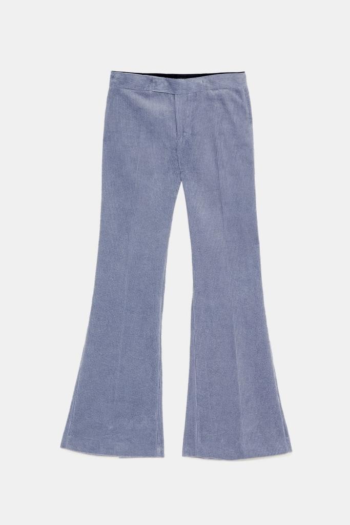 pantalon velours côtelé Zara