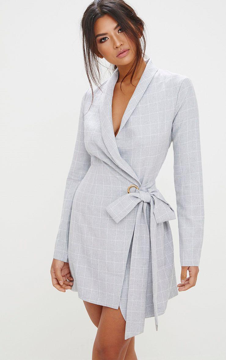robe bazer carreaux