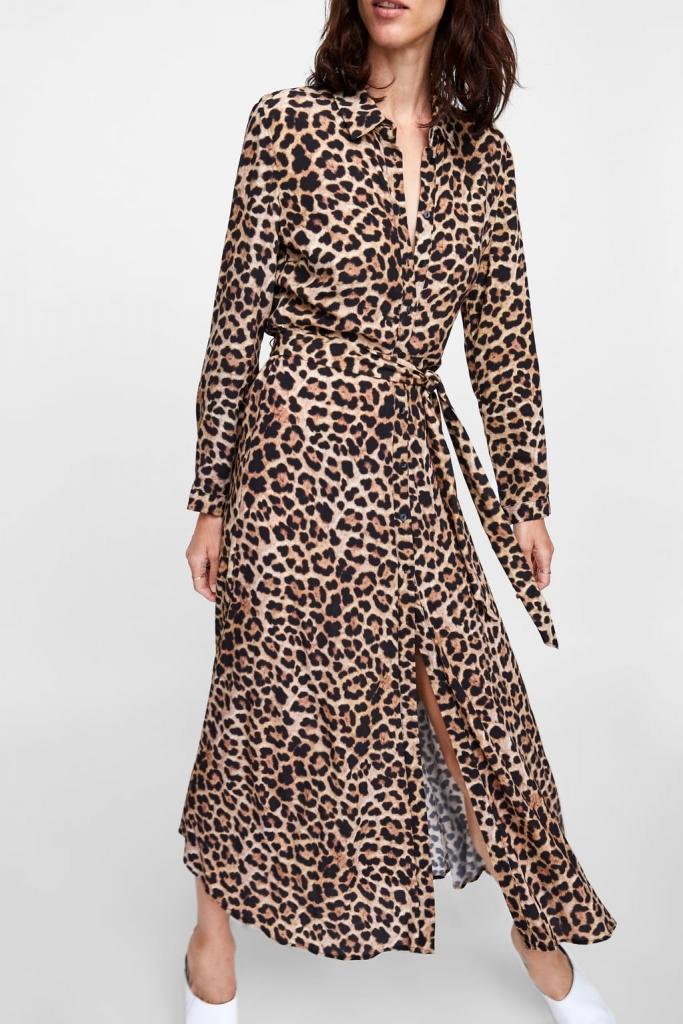 robe imprimé léopard zara