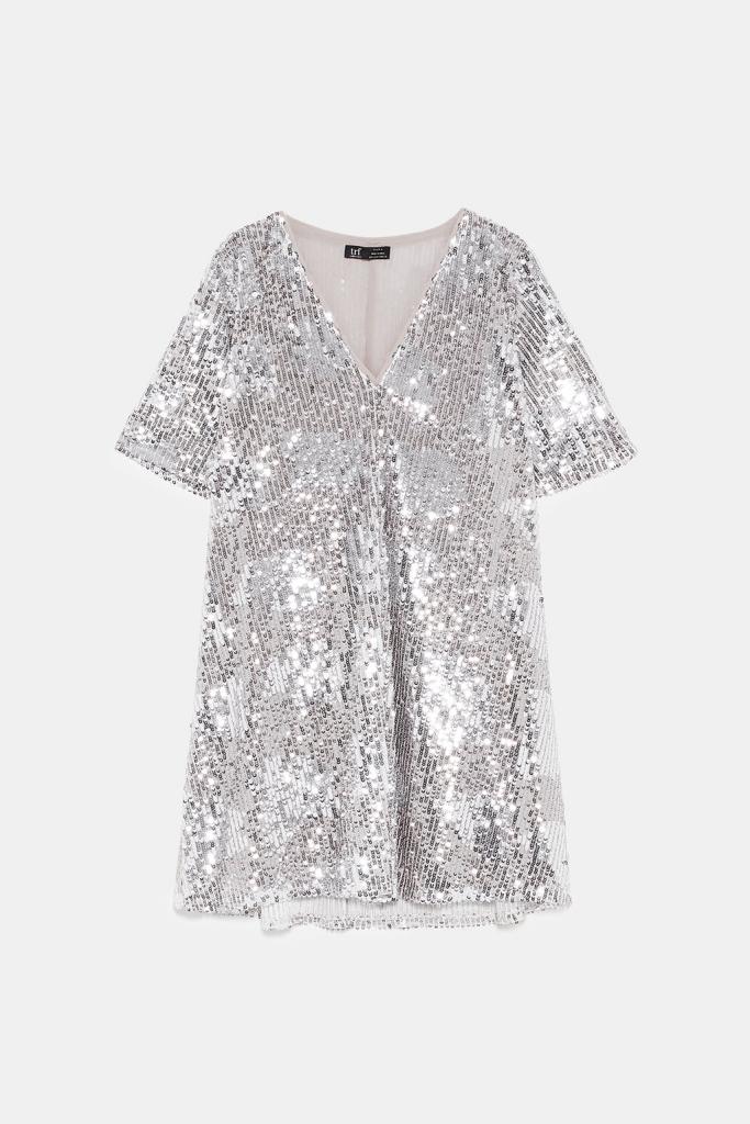 robe paillettes-zara