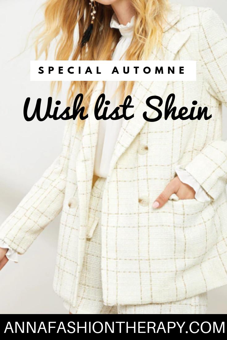 wish list sheen spécial automne