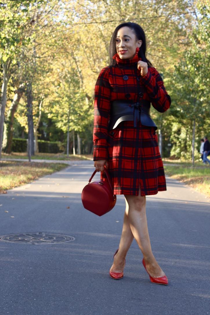 inspiration look manteau carreaux