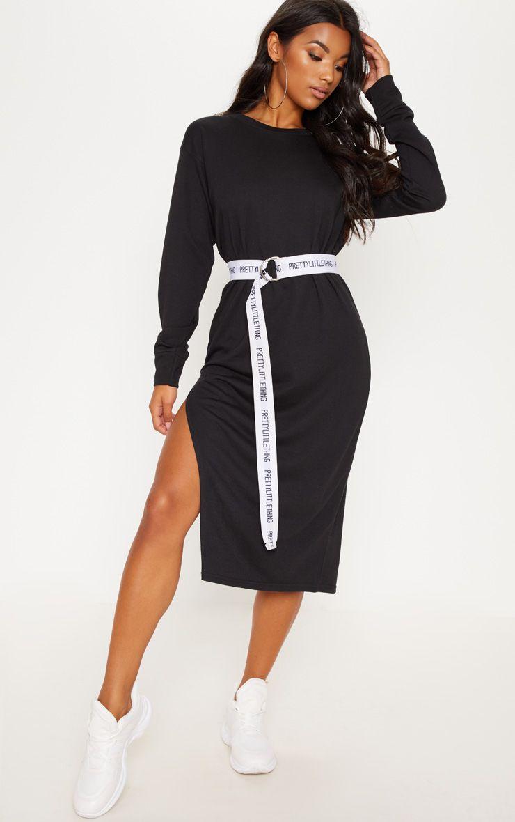 robe pull mi-longue prettylittlething