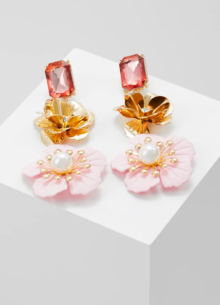 boucles d'oreilles fleurs Topshop