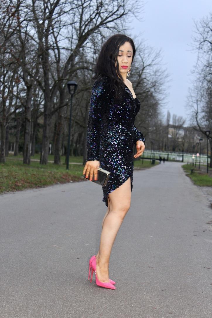 look nouvel an robe à sequins