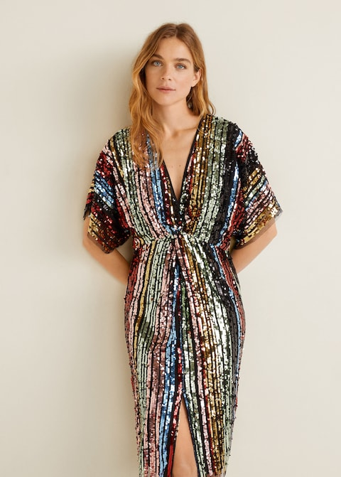 robe sequins mango