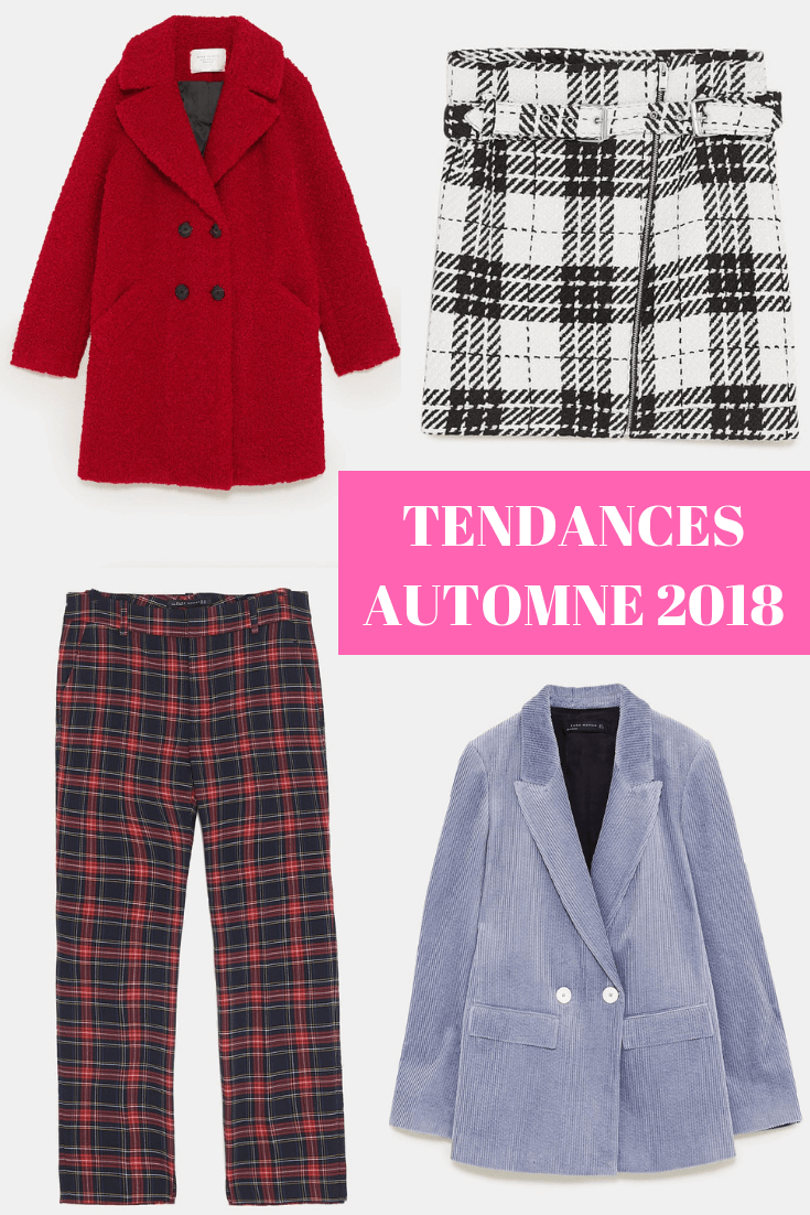les tendances de l'automnes 2018