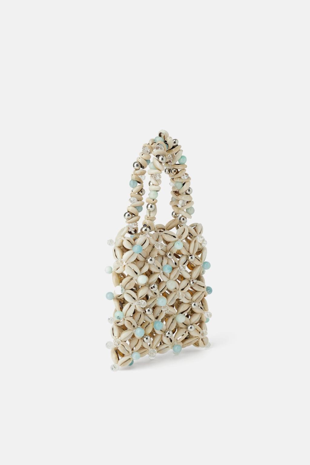 mini sac coquillages zara