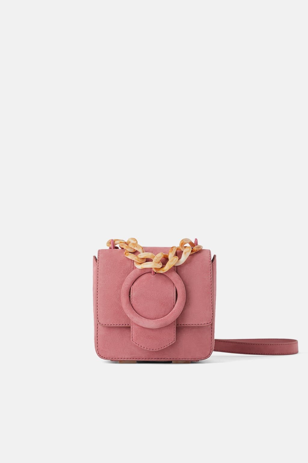 mini sac rose zara