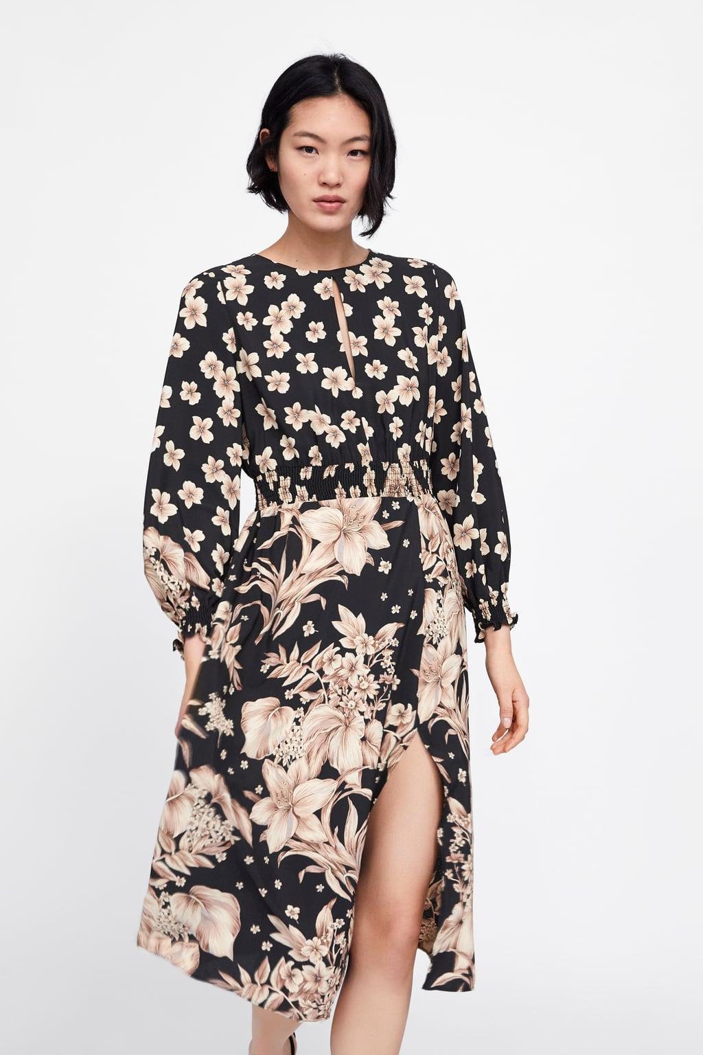 robe imprimé fleur zara