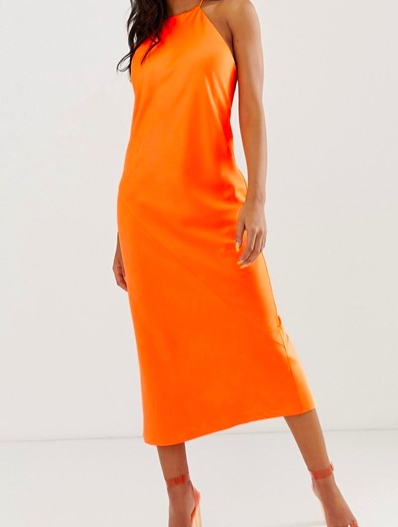 robe orange fluo asos