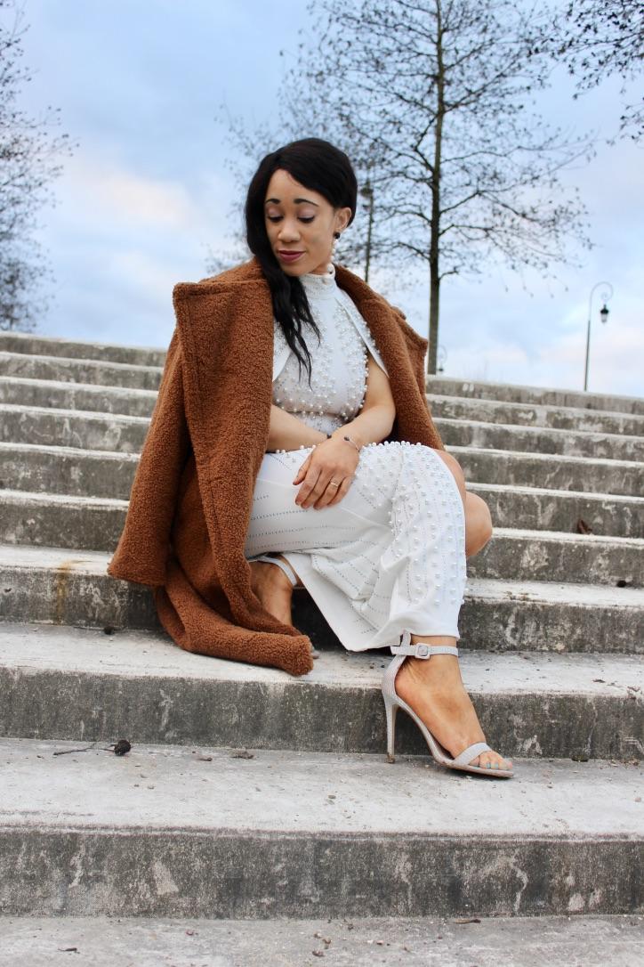 robe blanche fashion nova
