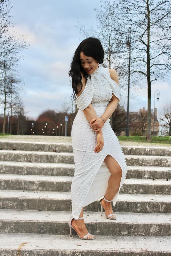 shooting mode robe blanche fashion nova
