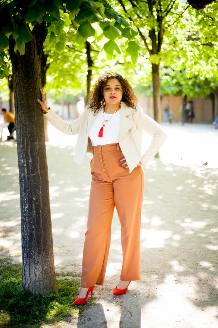 inspiration look pantalon caramel
