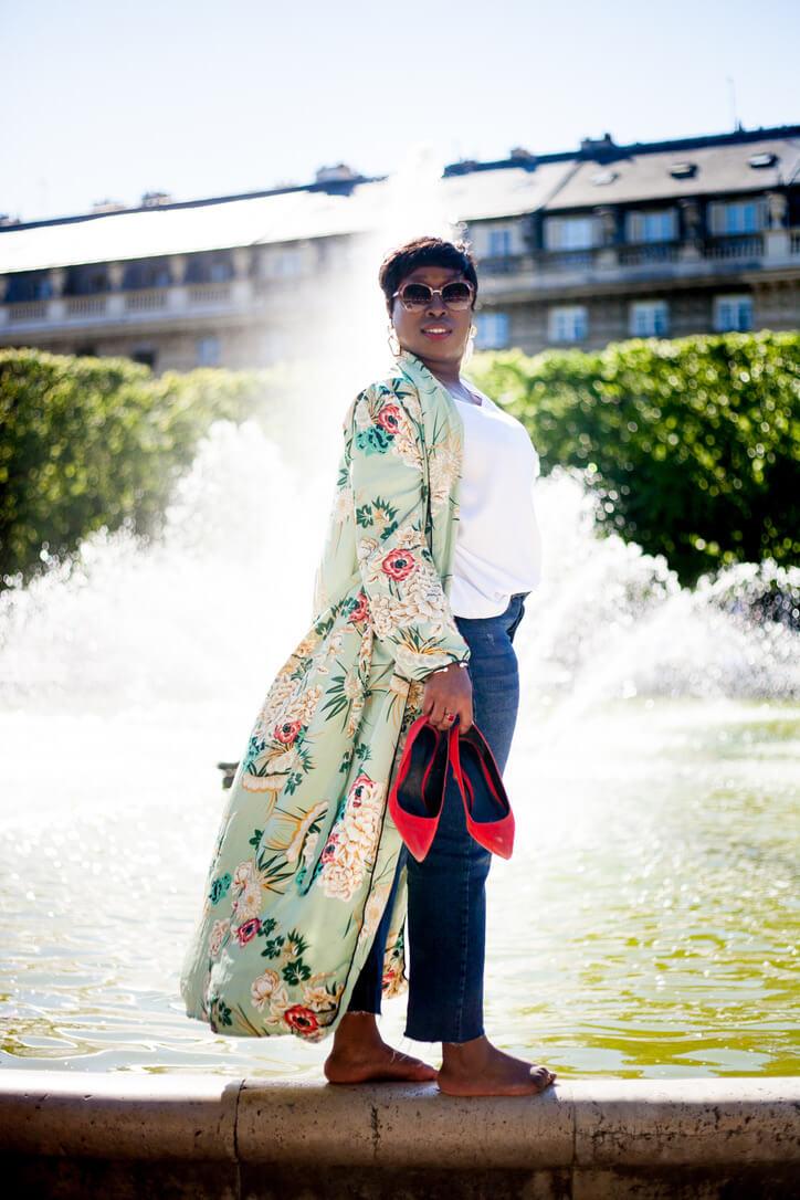 look casual chic kimono