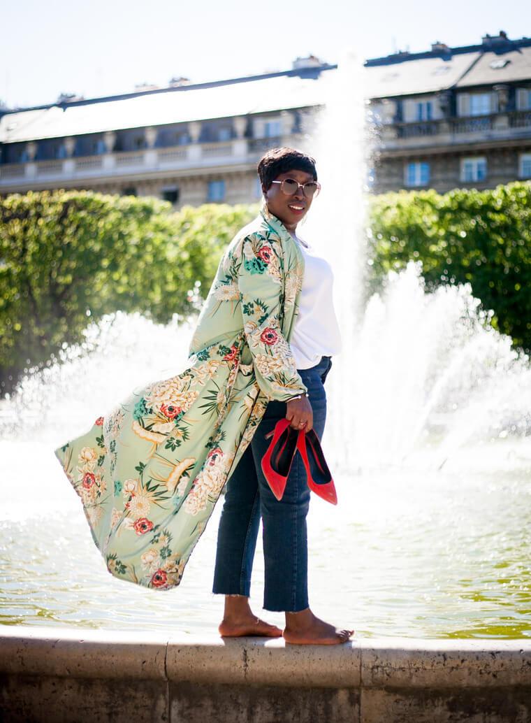 shooting photos kimono fleuri