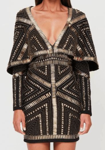 robe cape noire Missguided