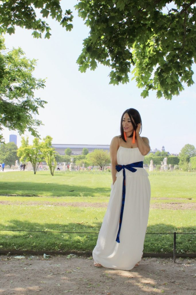 la robe longue blanche