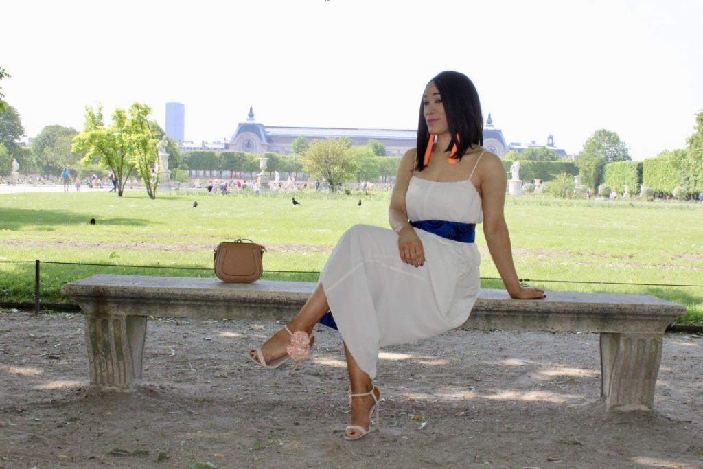 robe blanche ceinture wax