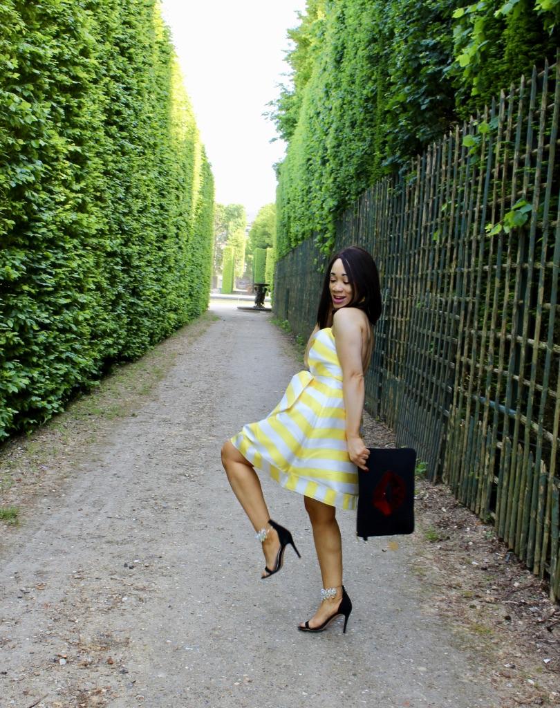 photo mode robe à rayures