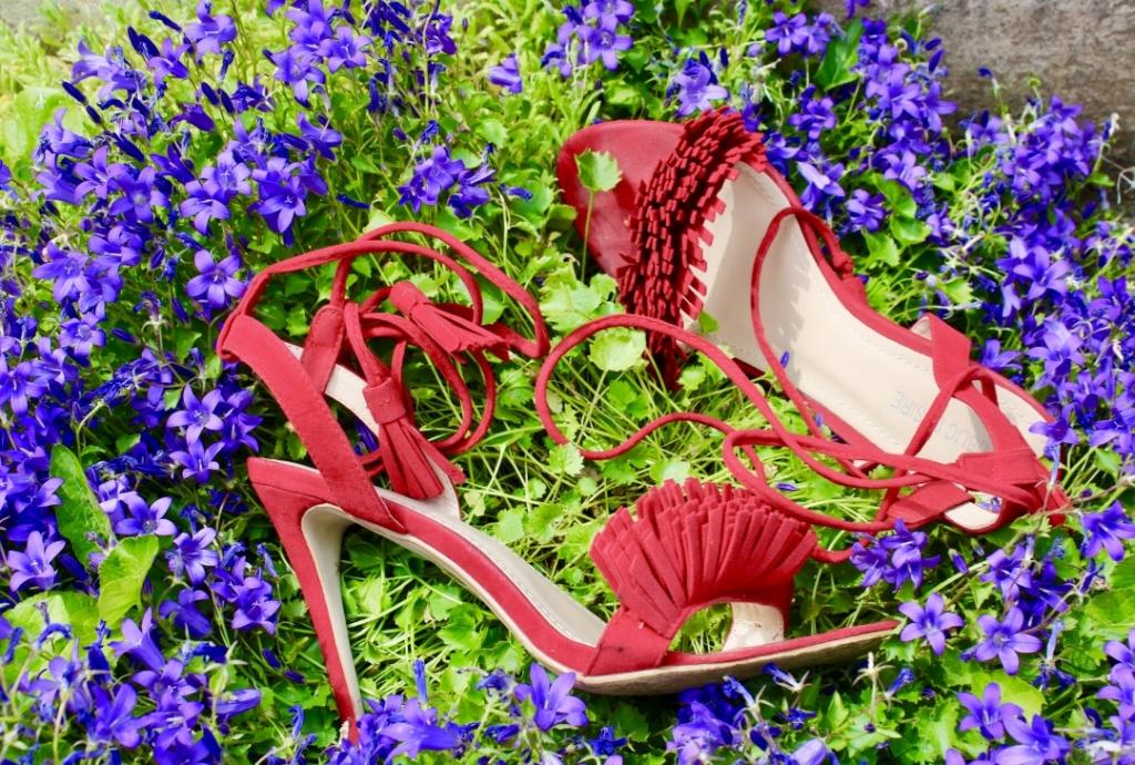 sandales à franges