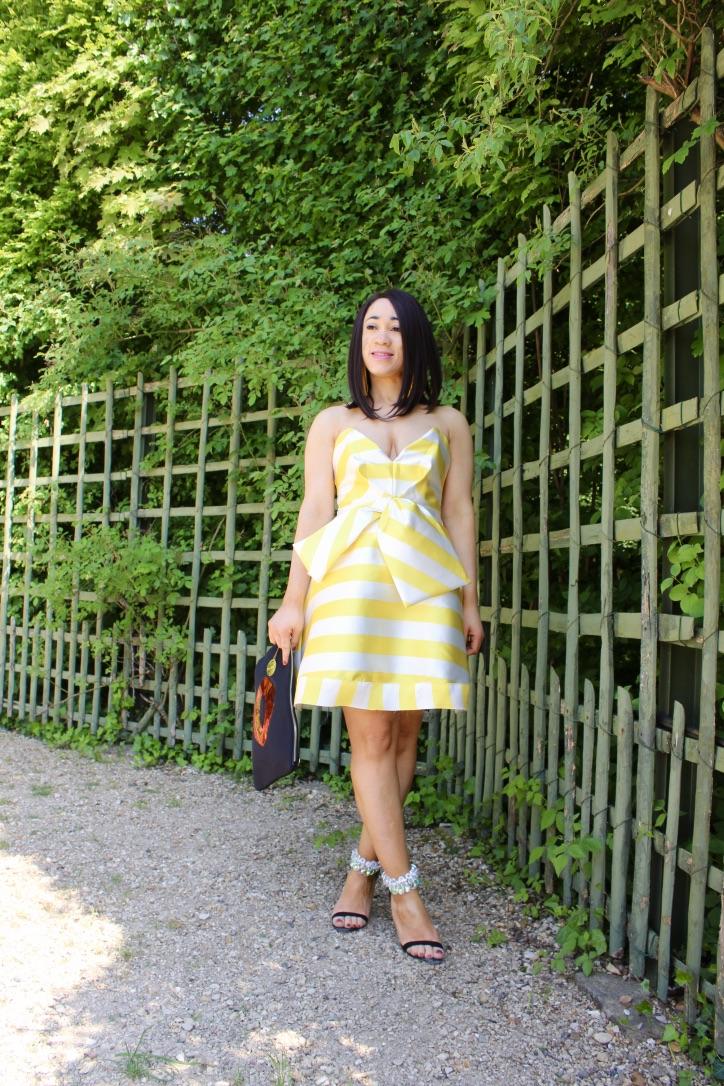 shooting robe à rayures