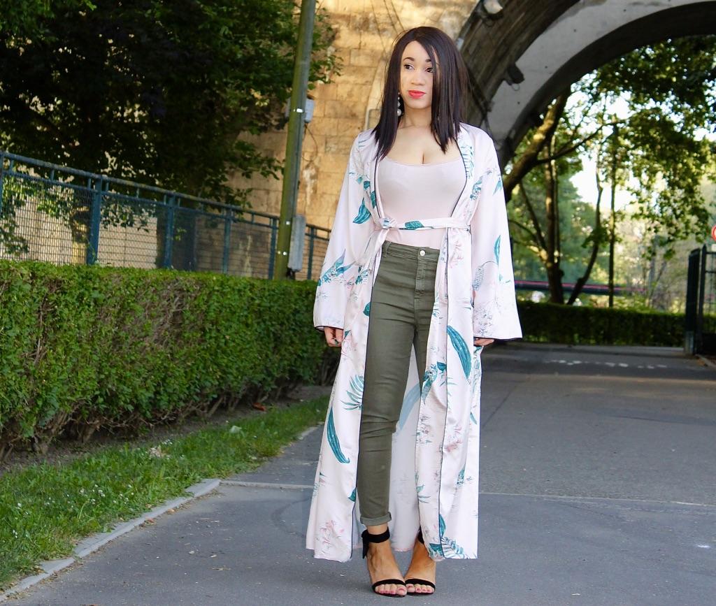 comment porter le maxi kimono