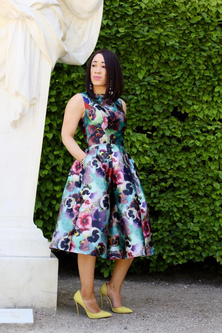 look robe à fleurs chichiclothing