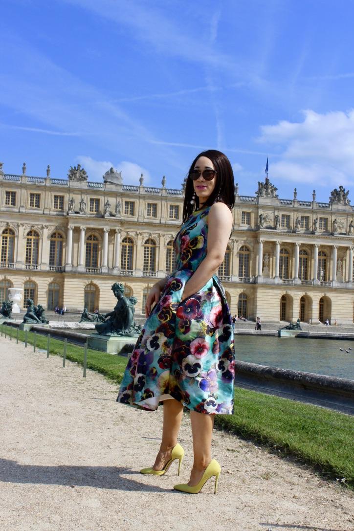 look robe à fleurs