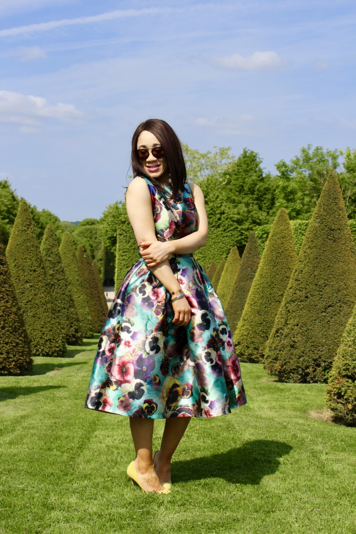 robe mi longue fleurs