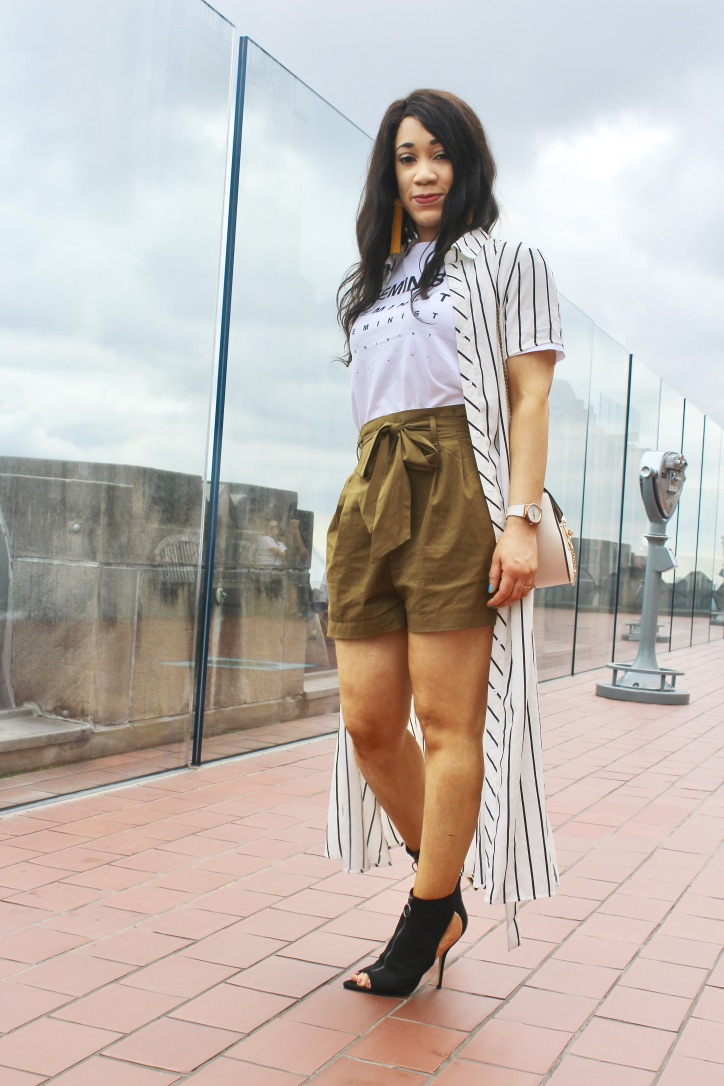 idees look robe chemise a rayures