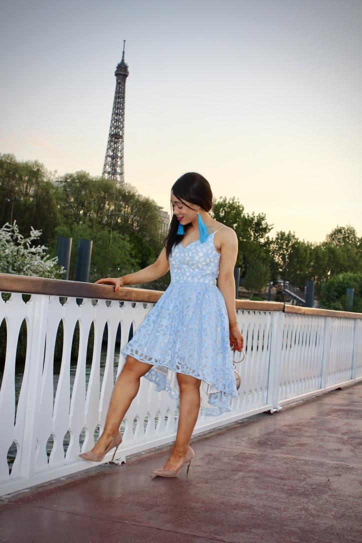 inspiration look robe bleu clair