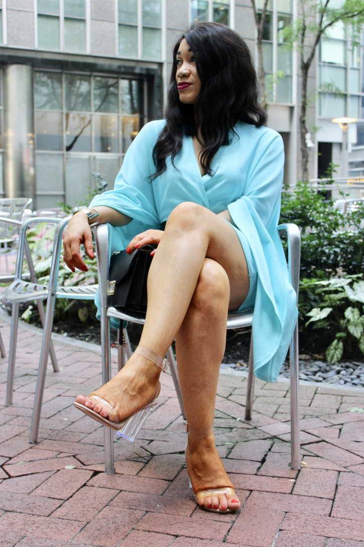 look robe turquoise prettylittlething