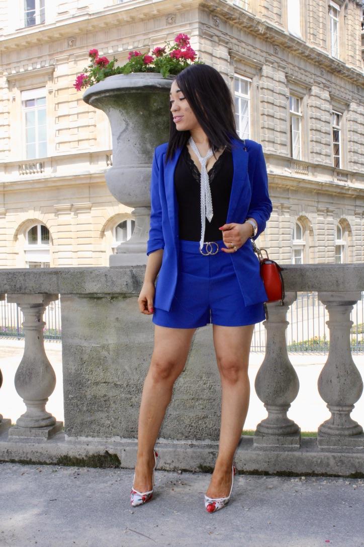 look tailleur short